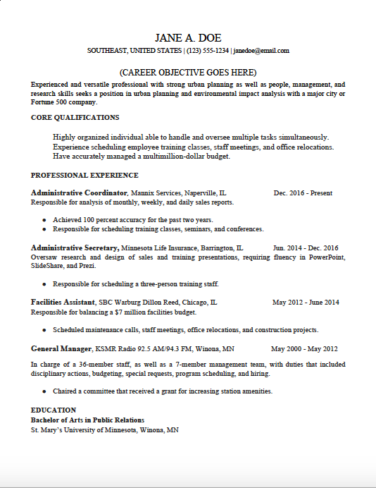 chronological-resume-template